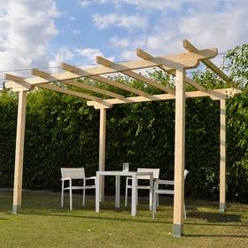 28 brilliant pergolas de madera brico depot - Cenadores bricodepot ...
