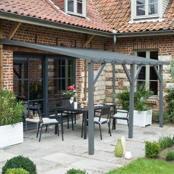 P rgolas de madera leroy merlin - Porches para jardin ...