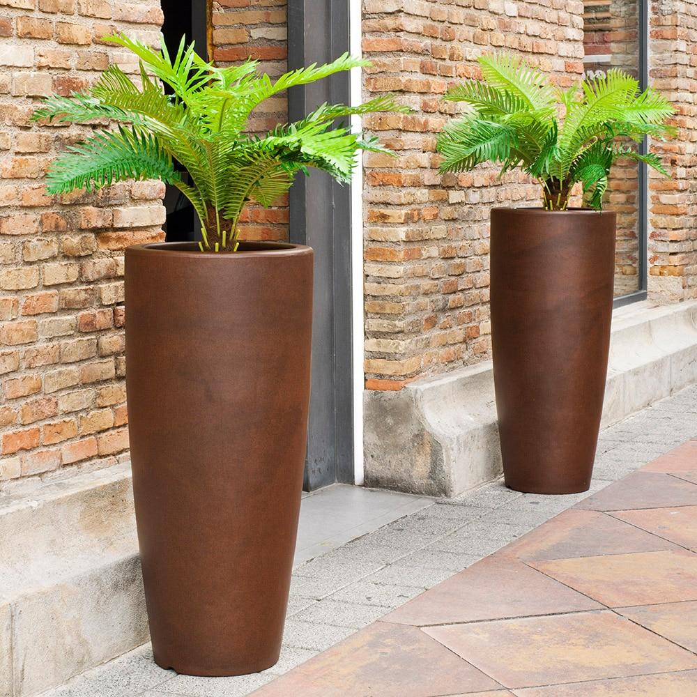 Maceta de resina bambu ref 16853025 leroy merlin - Bambu cuidados en maceta ...