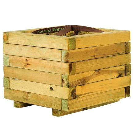 Jardinera de madera baroque cuadrada ref 16137632 leroy for Listones de madera tratada leroy merlin