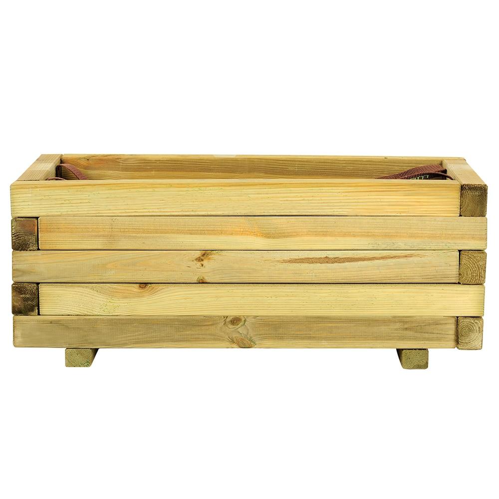 Jardinera de madera baroque rectangular ref 16137646 for Vallado de madera jardin leroy merlin