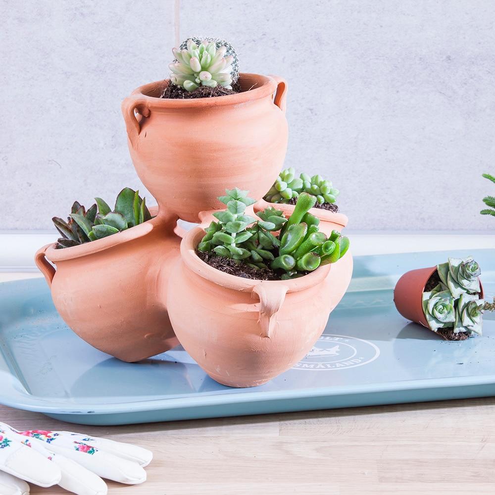 Maceta de barro cactus ref 10677464 leroy merlin - Macetas para jardin exterior ...