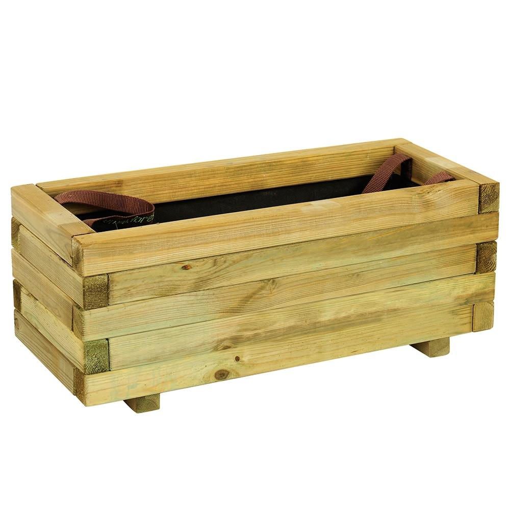 Jardinera jardinera de madera baroque ref 16137646 for Jardineras de madera para exterior