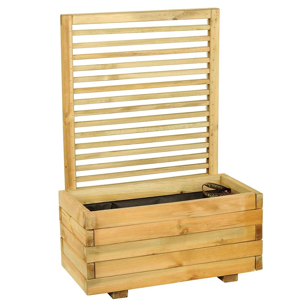 Jardinera jardinera de madera cajou ref 16137604 leroy for Jardinera de madera vertical