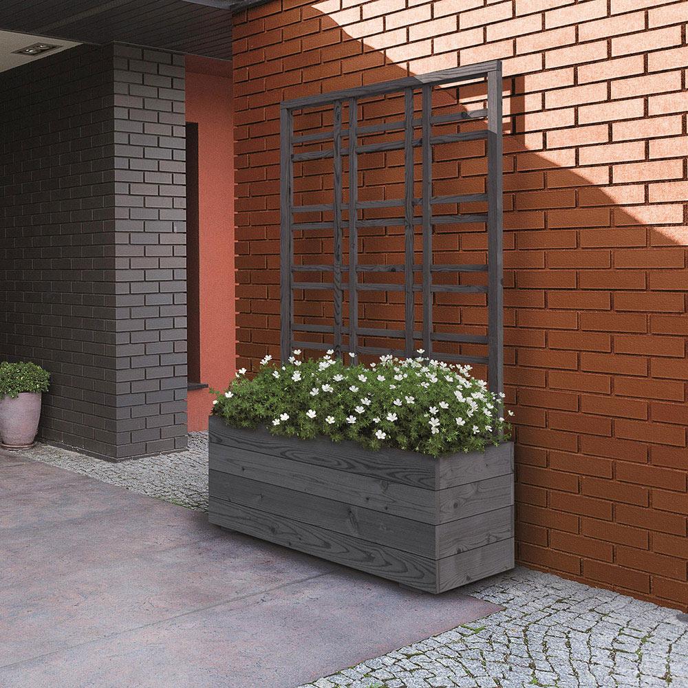 011509 jardinera de madera con celos a jardinera de madera for Celosia de madera para jardin