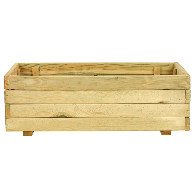 Jardinera jardinera de madera madera ref 14098553 leroy for Jardineras de madera para exterior