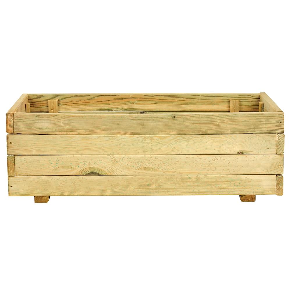 Jardinera de madera madera rectangular ref 14098553 for Jardineras de madera para exterior