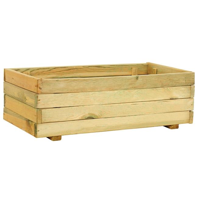 Jardinera de madera madera rectangular ref 14098553 for Vallado de madera jardin leroy merlin