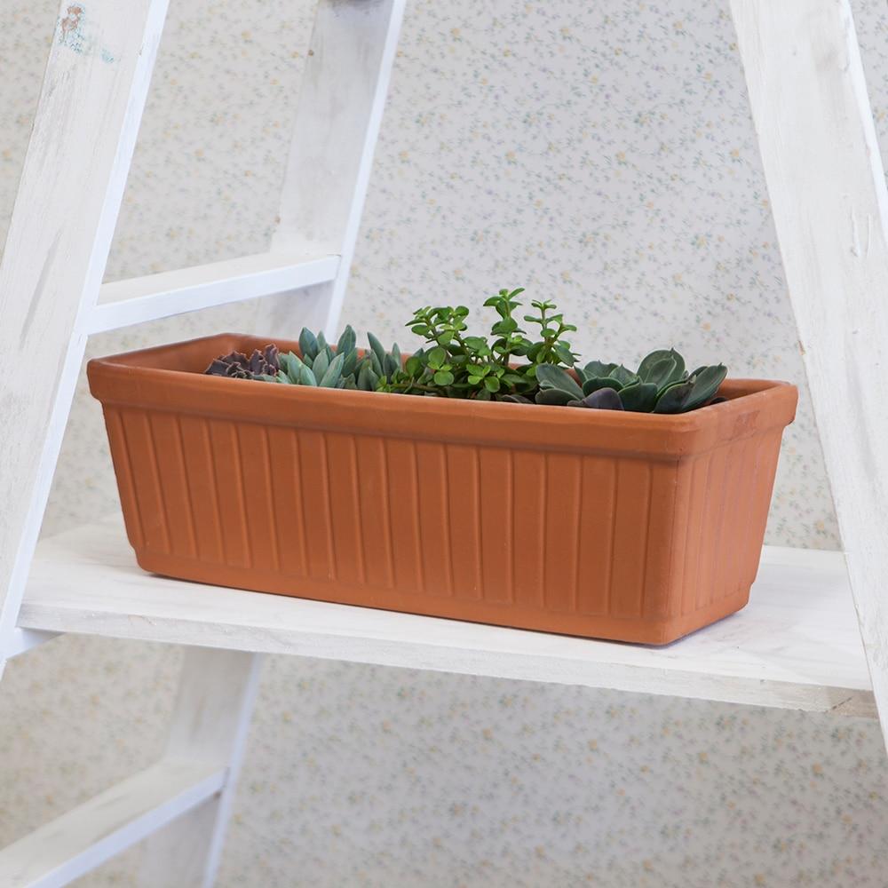 Jardinera de barro venezia ref 686182 leroy merlin - Macetas de exterior ...