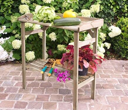 Mesa de huerto de madera flora ref 16133040 leroy merlin - Mesa de cultivo leroy merlin ...