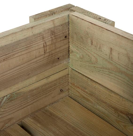 Mesa de huerto de madera martin ref 16714103 leroy merlin - Huerto vertical leroy merlin ...
