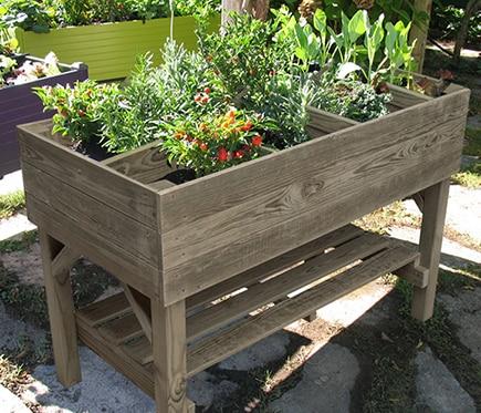 Mesa de huerto de madera ref 17299485 leroy merlin - Huerto vertical leroy merlin ...