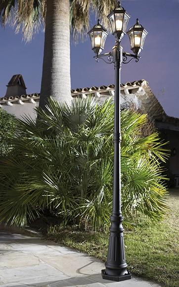 Farola 3 luces inspire jaipur xido ref 13177514 leroy - Luces solares leroy merlin ...
