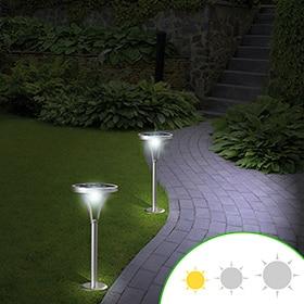 Soluciones solares leroy merlin for Iluminacion solar para jardin