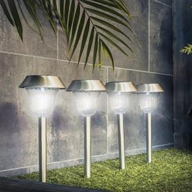 Balizas sobremuros y columnas leroy merlin - Balizas solares jardin ...