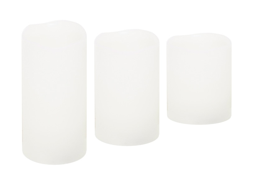 pack de 3 velas rgb ref 17389120 leroy merlin. Black Bedroom Furniture Sets. Home Design Ideas