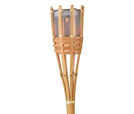 Antorcha lumineo solar bambu led ref 19521222 leroy merlin - Antorchas solares para jardin ...