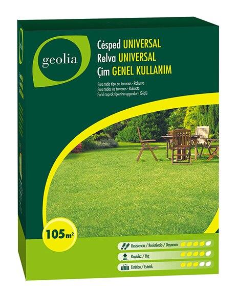 Semilla de c sped geolia c sped universal geolia ref for Cesped natural leroy merlin