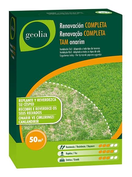 Semilla de c sped geolia c sped repoblador geolia ref for Cesped natural leroy merlin