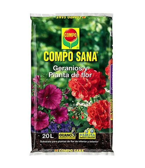 Sustrato compo geranios y plantas de flor 20l ref - Vitaminas para plantas de interior ...