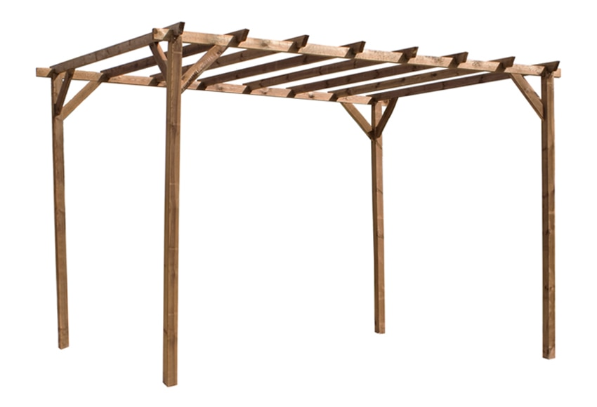 P rgola de 3 x 4 m magdalie ref 13779192 leroy merlin - Postes de madera leroy merlin ...