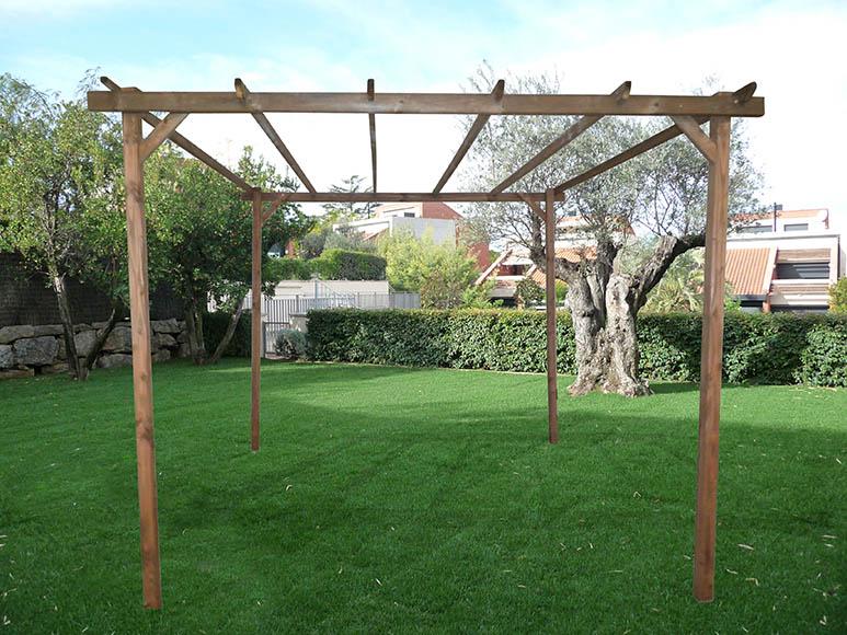 Pergola de jardin leroy merlin cheap ampliar imagen with for Prix pergola lames orientables leroy merlin