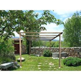 Pergola leroy merlin latest pergola alu sun louvre aluminium adjustable roof m x leroy merlin Pergolas leroy merlin madera