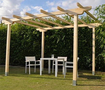 P rgola de 4 x 3 m cabo de gata ref 16755942 leroy merlin - Pergolas de madera baratas ...