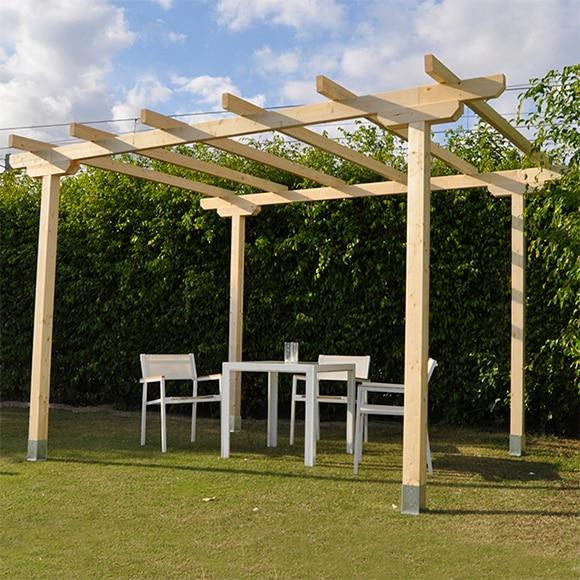 Pergola madera leroy merlin free amazing pergola para for Carpas jardin leroy merlin
