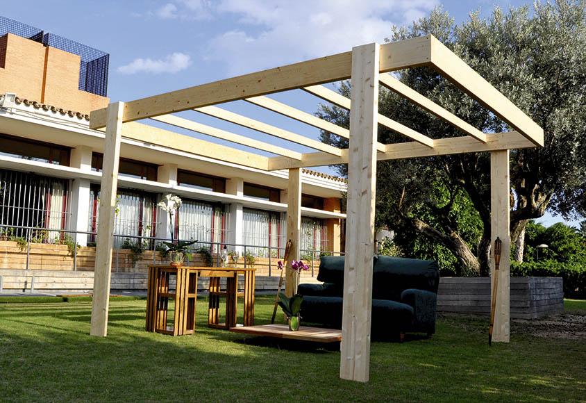 P rgola de 4 x 3 m montsant ref 16756033 leroy merlin - Construir pergola de madera ...