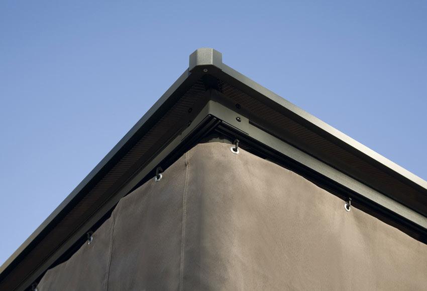P rgola de acero y poli ster cant brico ref 012602 for Laminas proteccion solar leroy merlin