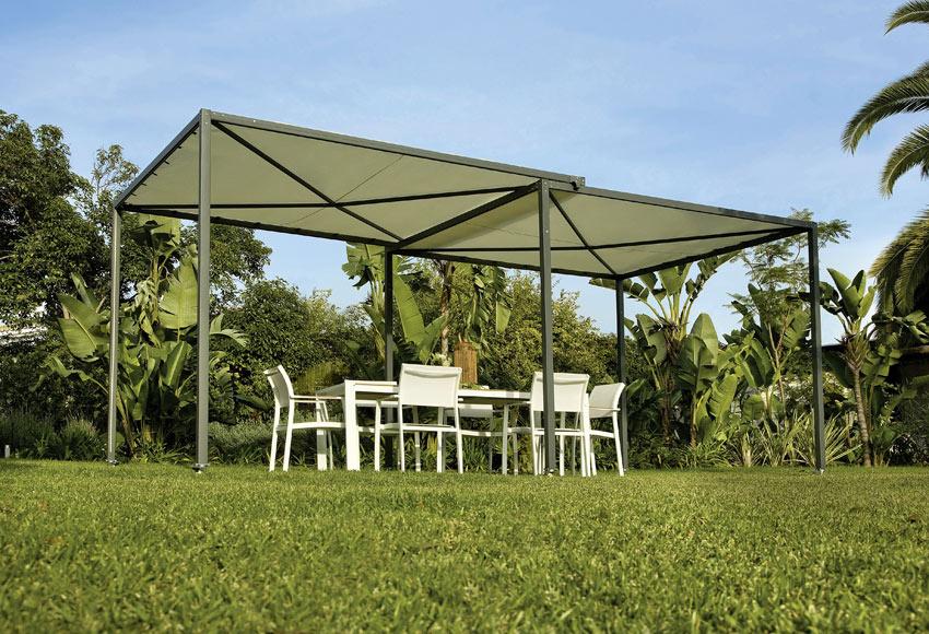 P rgola de acero extensible la palma ref 012602 17806726 for Carpas jardin leroy merlin
