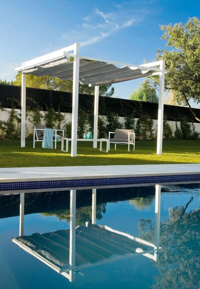 P rgola de aluminio y acero chipre ref 012602 17806761 - Pergolas de aluminio para jardin ...