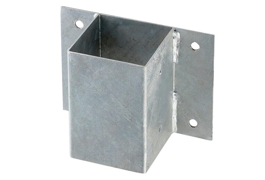 Soporte de poste pared 9x9 cm ref 14091665 leroy merlin - Postes de madera leroy merlin ...