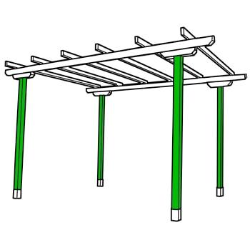 P rgolas de madera por piezas leroy merlin - Postes de madera para pergolas ...