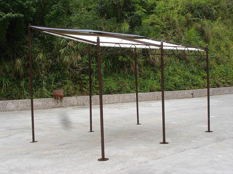 Marquesina de metal 3 5x2 5 de pared ref 15285200 leroy - Como hacer una pergola de hierro ...
