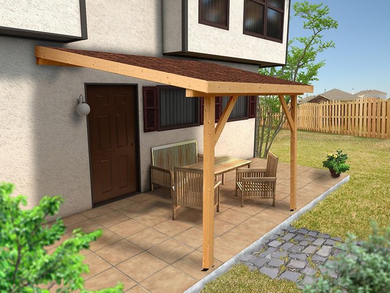 Marquesina de madera 3x3 marina ref 15554336 leroy merlin - Terrazas de madera precios ...
