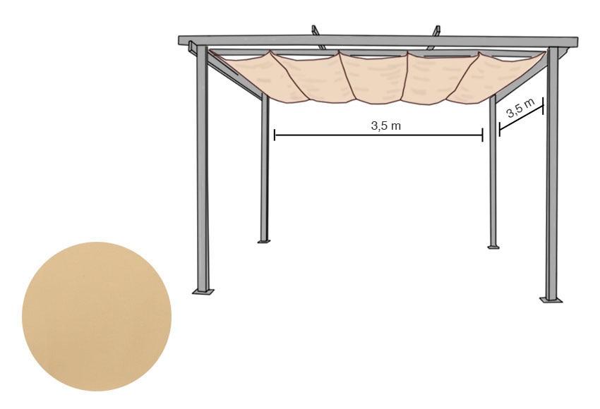 Rieles para pergolas materiales de construcci n para la for Recambios para toldos