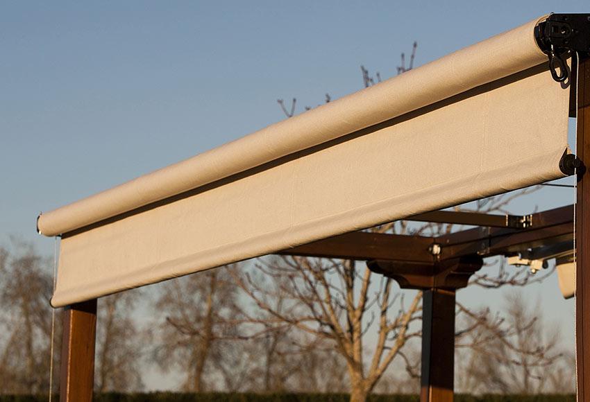 Toldo de 3 x 2 30 m vertical ref 14128135 leroy merlin for Toldos verticales para terrazas