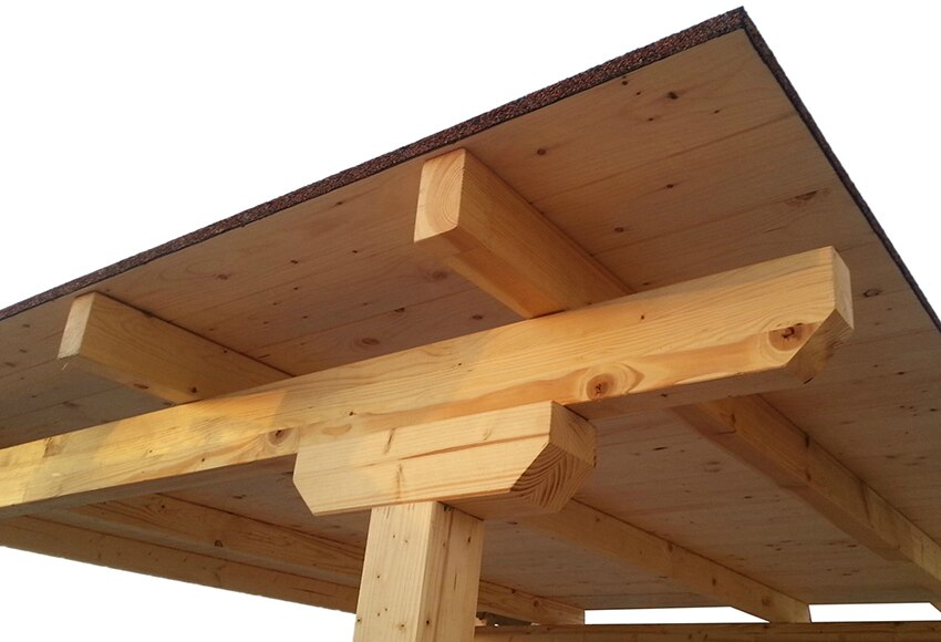 Techado de 3 x 4 m madera teja ref 16763103 leroy merlin for Pergolas de madera para jardin leroy merlin
