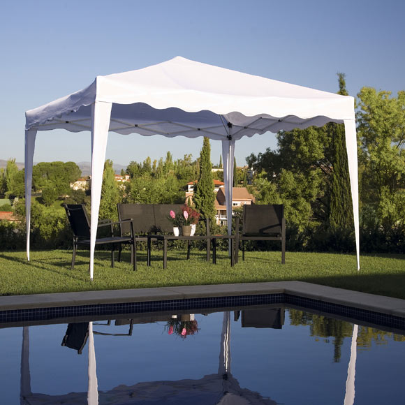 Gazebo plegable basic 3x3 crudo ref 19207622 leroy merlin for Gazebo pieghevole leroy merlin