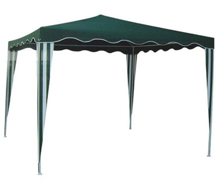 Gazebo verde 3x3 ref 19510960 leroy merlin for Carpas de jardin leroy merlin