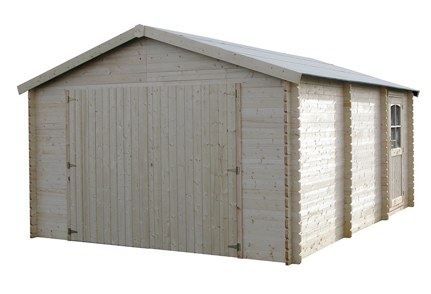Garaje de madera de abeto 21 04 m2 garodeal ref 16699116 for Cobertizo para exteriores