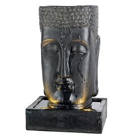 fuente decorativa cabeza de buddha led
