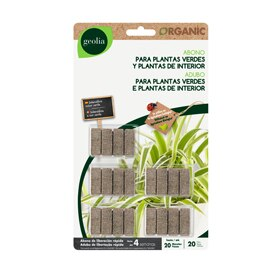 a6bb5492b Fertilizante orgánico para plantas verdes Geolia LIBERACIÓN LENTA 20 UDS