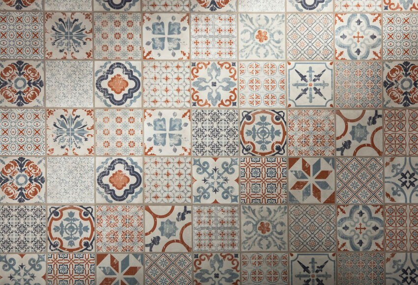 Loseta clic 31 x 60 cm line starfloor retro orange blue - Losetas vinilicas pared leroy merlin ...