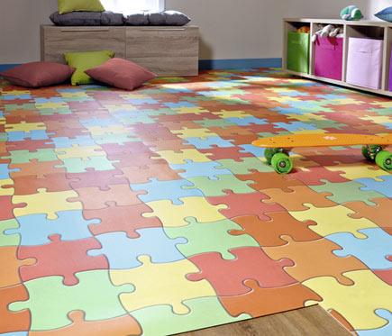 Suelo de vinilo line play puzzle ref 12753405 leroy merlin - Suelos de vinilo ...