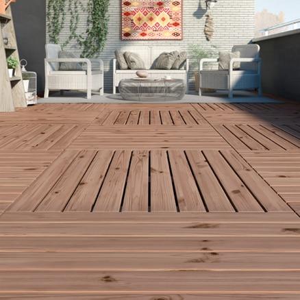 Suelos de madera para exterior leroy merlin - Suelos para terrazas exteriores sin obra ...