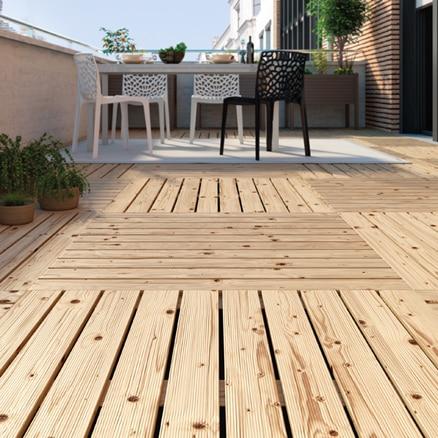Suelos de madera para exterior leroy merlin for Baldosas de terraza exterior