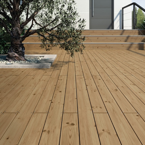 Pack lamas pino 6 unidades 9x205 cm ref 16337860 leroy merlin - Suelo madera exterior ...